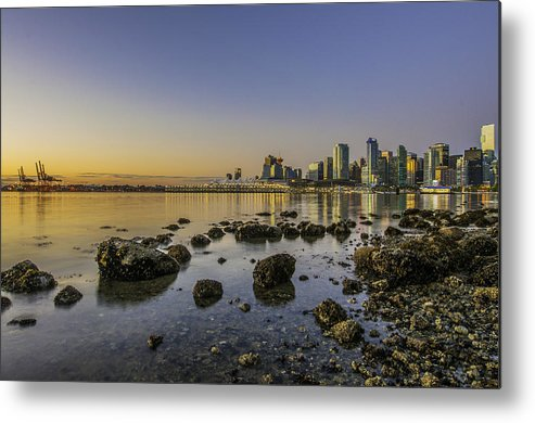 Sunrise Metal Print featuring the photograph Canada Place Morning by Julian Russell