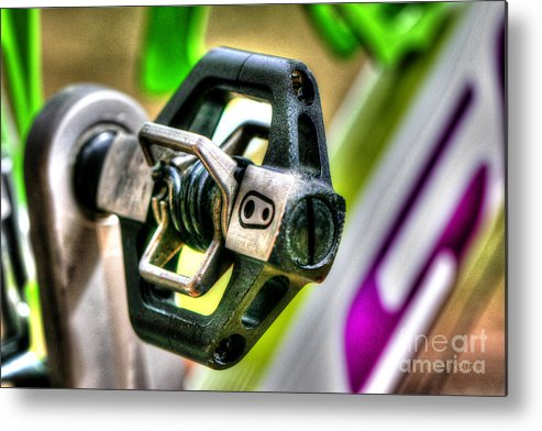 Bike Photos Metal Print featuring the photograph Candy Bike Pedal by Tap On Photo