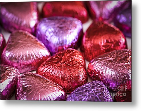 Candy Metal Print featuring the photograph Candy Hearts by Elena Elisseeva