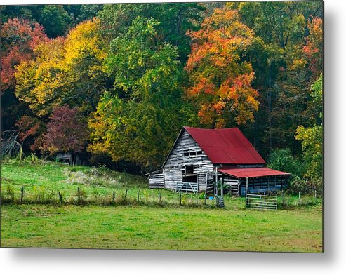 Appalachia Metal Print featuring the photograph Candy Mountain by Debra and Dave Vanderlaan