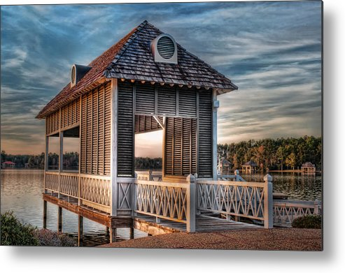 Canebrake Metal Print featuring the photograph Canebrake Boat House by Brenda Bryant