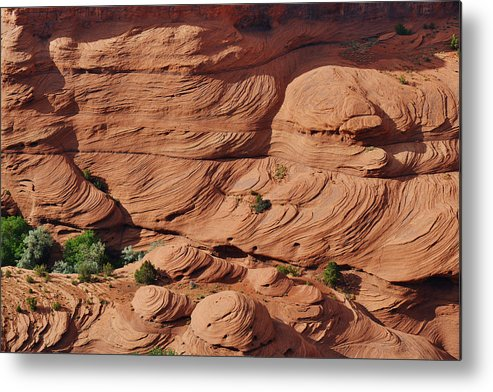 Rocks Metal Print featuring the photograph Canyon De Chelly - A Fascinating Geologic Story by Christine Till