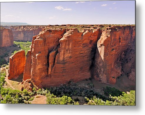 Canyon Metal Print featuring the photograph Canyon De Chelly - View From Sliding House Overlook by Christine Till
