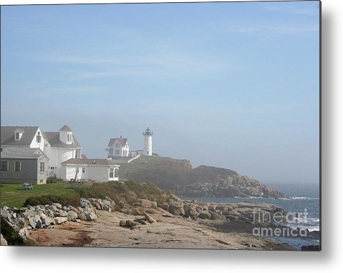 Lighthouse Metal Print featuring the photograph Cape Neddick Lighthouse IIi by Christiane Schulze Art And Photography