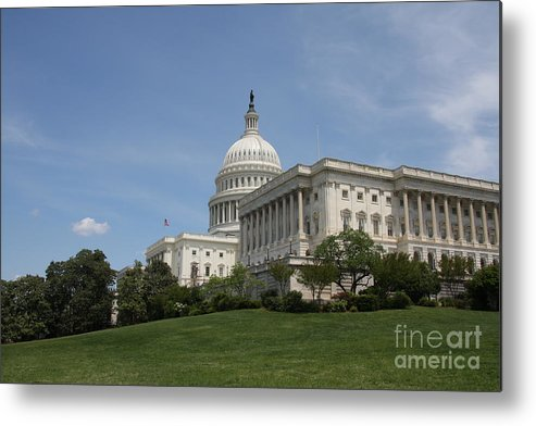 Building Metal Print featuring the photograph Capitol View Washington Dc by Christiane Schulze Art And Photography