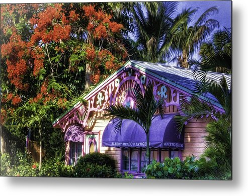Captiva Island Metal Print featuring the digital art Captiva Antiques by Georgianne Giese