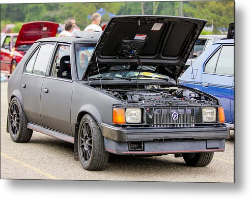 Dodge Omni Glh Metal Print featuring the photograph Car Show 023 by Josh Bryant