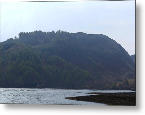 Blue Sky Metal Print featuring the digital art Cartoon - Loch Duich And The Surroundings In Scotland by Ashish Agarwal
