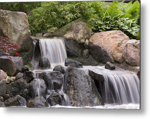 3scape Photos Metal Print featuring the photograph Cascade Waterfall by Adam Romanowicz