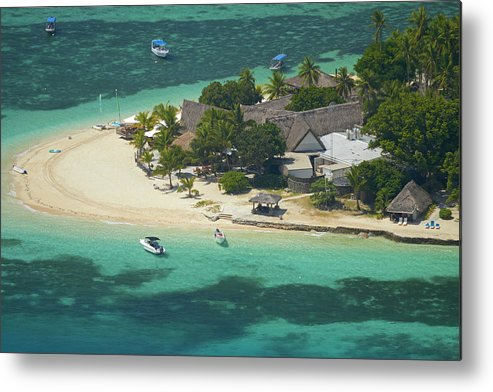 Accommodation Metal Print featuring the photograph Castaway Island Resort, Castaway by David Wall