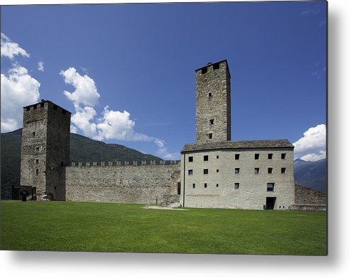 Castelgrande Metal Print featuring the photograph Castelgrande - Bellinzona II by Radka Linkova