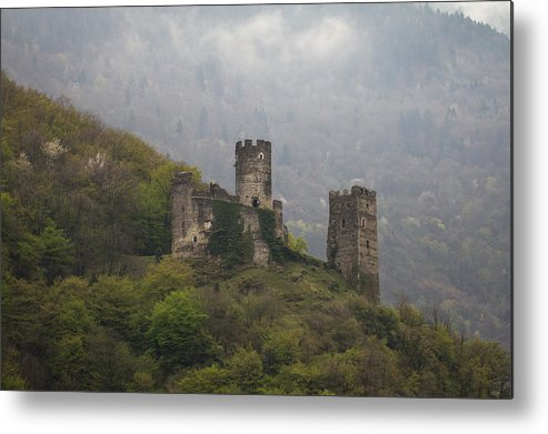 Clare Bambers Metal Print featuring the photograph Castle In The Mountains. by Clare Bambers