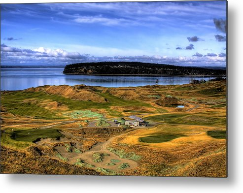 Chambers Bay Golf Course Metal Print featuring the photograph Chambers Bay Golf Course by David Patterson