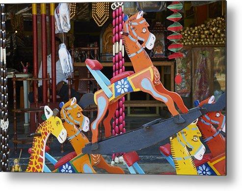 Channapatna Village Famous For Wooden Toys Mysore Karnataka India Asia Metal Print