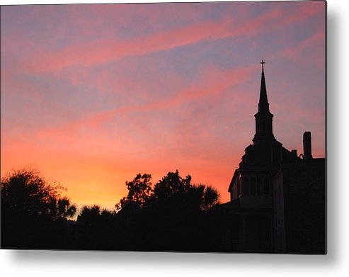 Charleston Metal Print featuring the photograph Charleston At Dusk by Suzanne Gaff