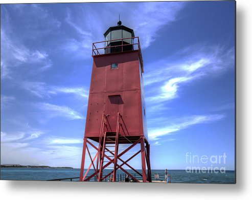 Charlevoix Metal Print featuring the photograph Charlevoix Lighthouse by Twenty Two North Photography