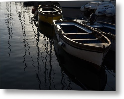 Charming Metal Print featuring the photograph Charming Old Wooden Boats In The Harbor by Georgia Mizuleva