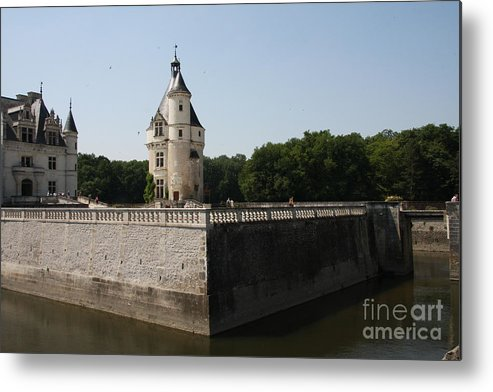 Castle Metal Print featuring the photograph Chateau And Moat Chenonceau by Christiane Schulze Art And Photography