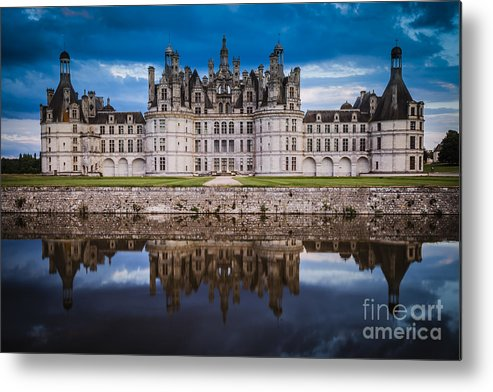 Architectural Metal Print featuring the photograph Chateau Chambord by Brian Jannsen
