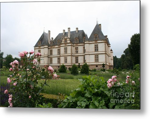 Palace Metal Print featuring the photograph Chateau De Cormatin Garden by Christiane Schulze Art And Photography