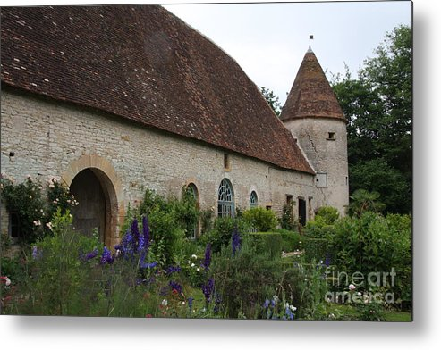 Palace Metal Print featuring the photograph Chateau De Cormatin Kitchen Garden - Burgundy by Christiane Schulze Art And Photography