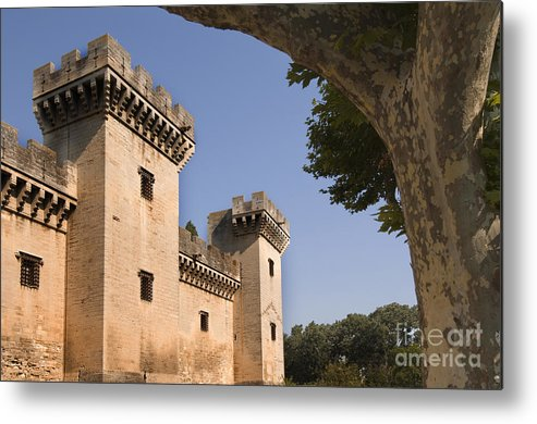 Chateau Of King Rene Metal Print featuring the photograph Chateau Of King Rene, France by John Shaw