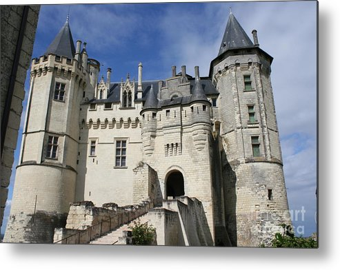 Castle Metal Print featuring the photograph Chateau Saumur by Christiane Schulze Art And Photography