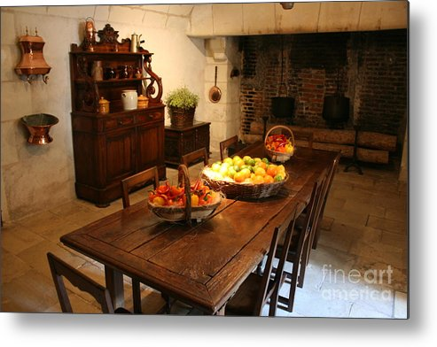 Kitchen Metal Print featuring the photograph Chenonceau Kitchen by Christiane Schulze Art And Photography