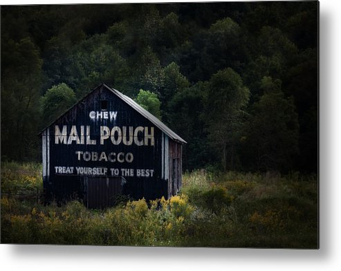 Americana Metal Print featuring the photograph Chew Mailpouch by Tom Mc Nemar