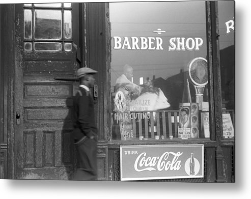 1941 Metal Print featuring the photograph Chicago Barber Shop, 1941 by Granger