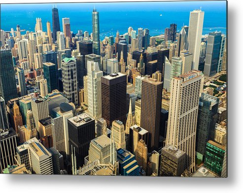 Architecture Metal Print featuring the photograph Chicago Cityscape by Raul Rodriguez