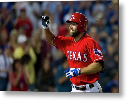 American League Baseball Metal Print featuring the photograph Chicago White Sox V Texas Rangers by Cooper Neill
