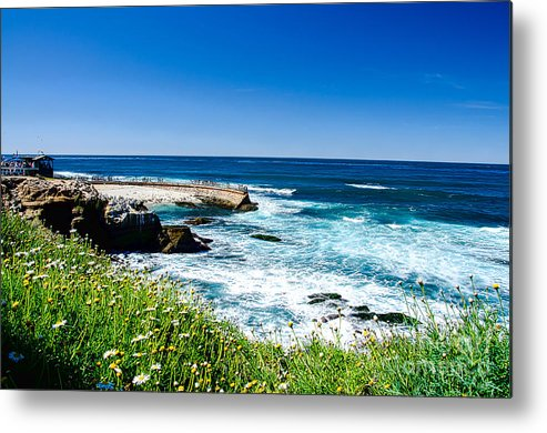 La Jolla Metal Print featuring the photograph Children's Pool by Keith Ducker