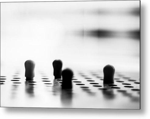 Pegs Metal Print featuring the photograph Chinese Checkers by Steve Johnson