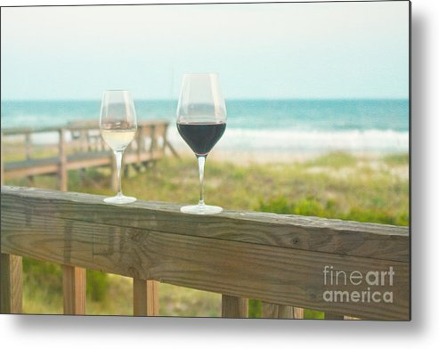 Wine Metal Print featuring the photograph Choices At The Beach by Kay Pickens