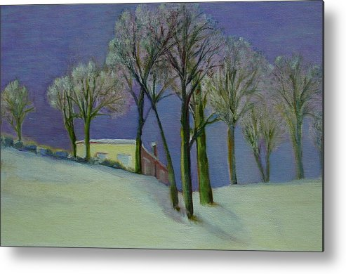 Christmas Card Metal Print featuring the painting Christmas Eve       Copyrighted by Kathleen Hoekstra