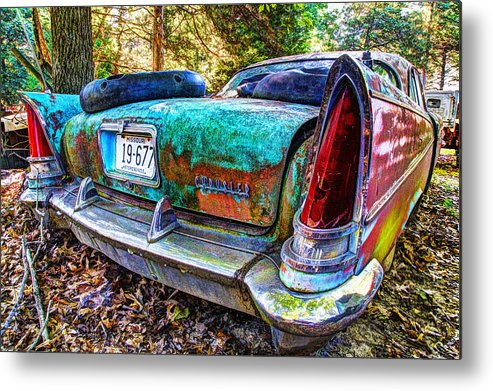 Car Metal Print featuring the photograph Chrysler Saratoga #1 by John Derby