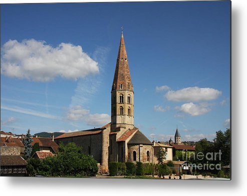 Church Metal Print featuring the photograph Church Saint Marcel - Cluny by Christiane Schulze Art And Photography