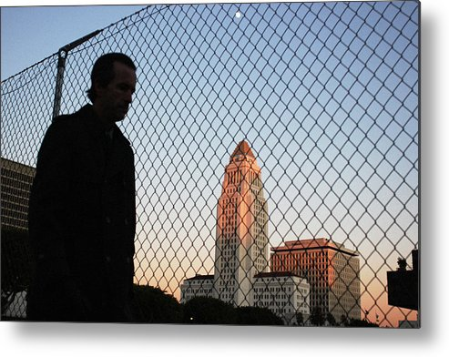 Los Angeles Metal Print featuring the photograph City Commuter by Arondi