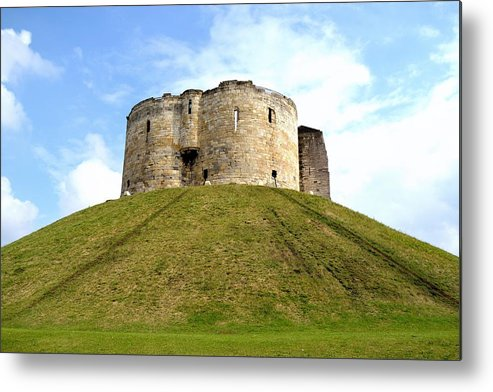 Stone Metal Print featuring the photograph Clifford's Tower York by Scott Lyons