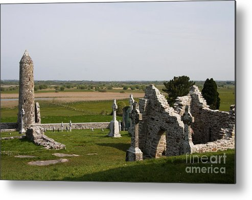 Clonmacnoise Metal Print featuring the photograph Clonmacnoise - Ireland by Christiane Schulze Art And Photography