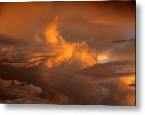 Clouds Metal Print featuring the photograph Cloud 20140529-105 by Carolyn Fletcher
