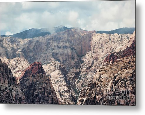 Red Rock Canyon Metal Print featuring the photograph Clouds Over Red Rock by Mkaz Photography