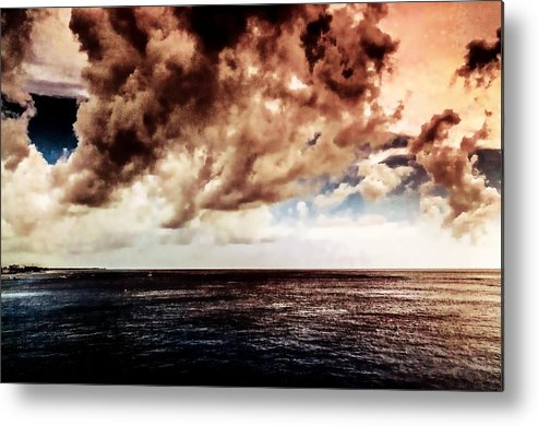 Clouds Metal Print featuring the photograph Clouds Over The Water by Bill Howard