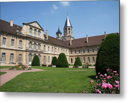 Cloister Metal Print featuring the photograph Cluny Abbey - Burgundy by Christiane Schulze Art And Photography