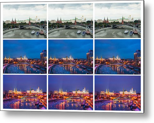 Amazing Metal Print featuring the photograph Collage - Kremlin View - Featured 3 by Alexander Senin