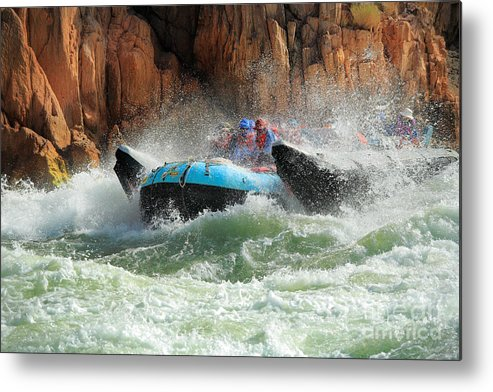 America Metal Print featuring the photograph Colorado River Rafters by Inge Johnsson