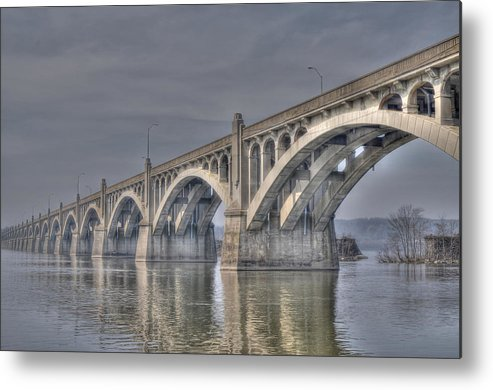 Columbia Metal Print featuring the photograph Columbia-wrightsville Bridge by Path Joy Snyder