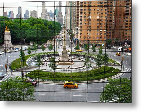Nyc Metal Print featuring the photograph Columbus Circle by Mitch Cat