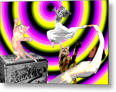 Fun Metal Print featuring the digital art Come On Down by Nicole DePreker